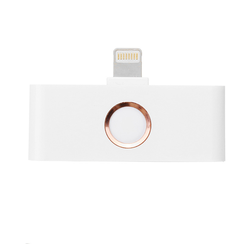 2 in 1 Extra Home Key Lightning Charging + 3 5mm Audio Jack Converter  Adapter for iPhone X 8